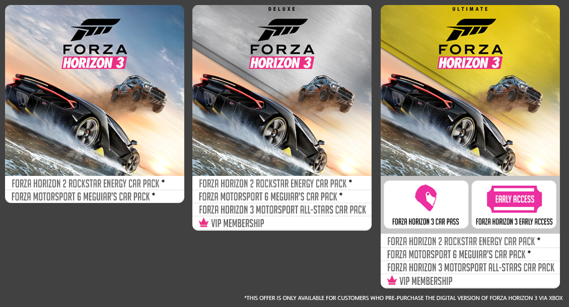 Forza Horizon  Car Pass Deluxe Editoin