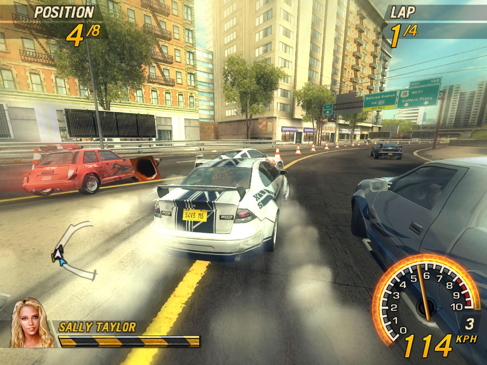 Скриншоты из игры FlatOut 2.