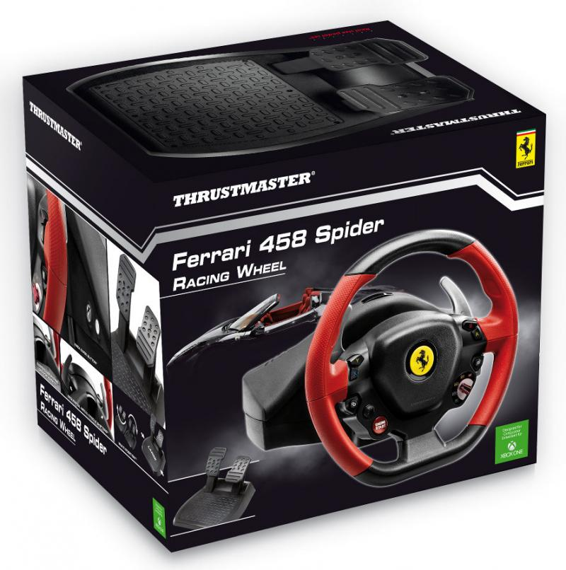 hardware thrustmaster stellt kosteng nstigeres lenkrad ferrari 458 spider racing wheel f r xbox. Black Bedroom Furniture Sets. Home Design Ideas